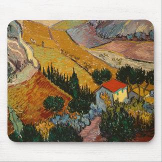 Tapis De Souris Paysage de Vincent van Gogh | avec la Chambre et