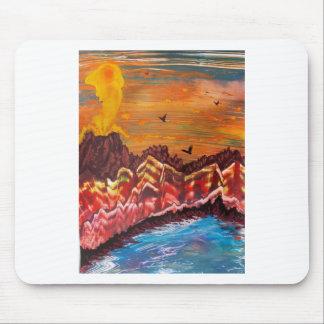 Tapis De Souris Paysage du volcan de tabagisme