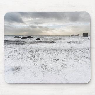 Tapis De Souris Paysage marin mousseux pâle d'océan, Islande