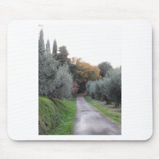Tapis De Souris Paysage rural pendant l'automne. La Toscane,