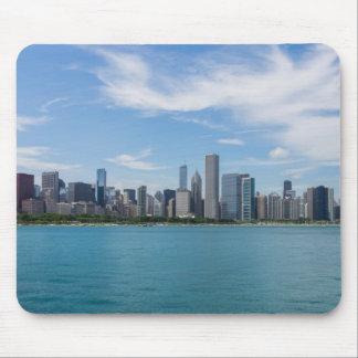 Tapis De Souris Paysage urbain de jour de Chicago