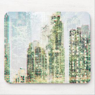 Tapis De Souris Paysage urbain et forêt