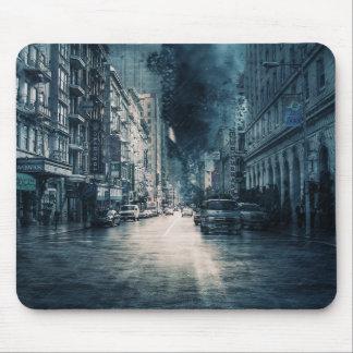 Tapis De Souris Paysage urbain orageux