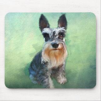 Tapis De Souris Peinture d'art de couleur d'eau de chien de