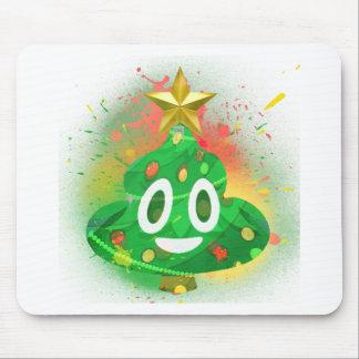 Tapis De Souris Peinture de jet d'arbre de Noël d'Emoji