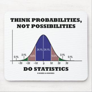 Tapis De Souris Pensez les probabilités, pas statistiques de