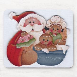 Tapis De Souris Père Noël et boulangers de chef de bébé de pain