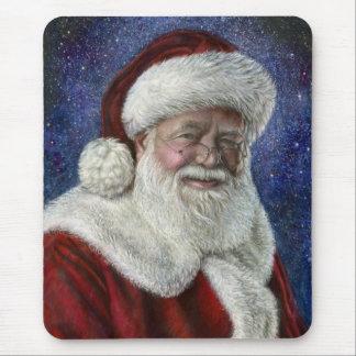 Tapis De Souris Père Noël parmi les étoiles