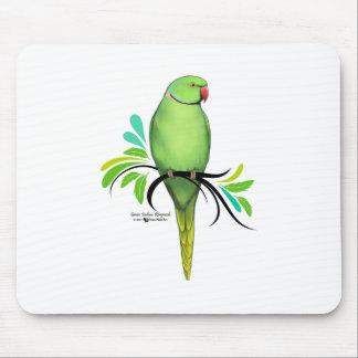 Tapis De Souris Perroquet vert de Ringneck d'Indien