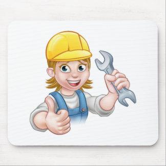Tapis De Souris Personnage de dessin animé femelle de plombier