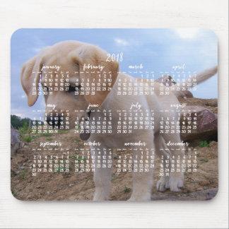 Tapis de souris personnalisé du calendrier 2018 de