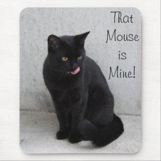 Tapis De Souris Personnaliser de mousepad de chat noir