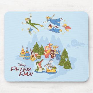 Tapis De Souris Peter Pan volant au-dessus de Neverland