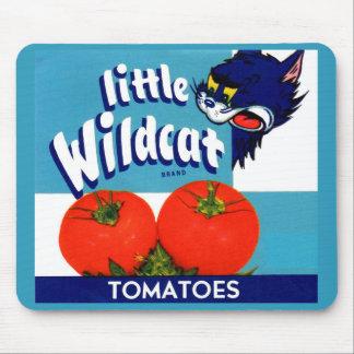 Tapis De Souris Petit étiquette sauvage de caisse de tomates