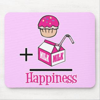 Tapis De Souris Petit gâteau plus le bonheur de lait