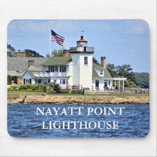 Tapis De Souris Phare de point de Nayatt, Île de Rhode Mousepad