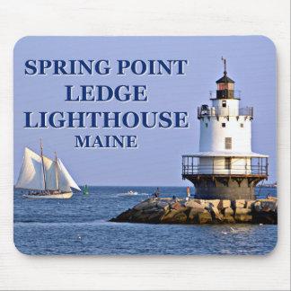 Tapis De Souris Phare de rebord de point de ressort, Maine