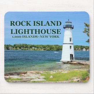 Tapis De Souris Phare d'île de roche, New York Mousepad