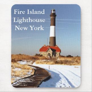 Tapis De Souris Phare d'île du feu, New York Mousepad