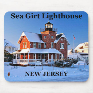 Tapis De Souris Phare enserré par mer, New Jersey Mousepad