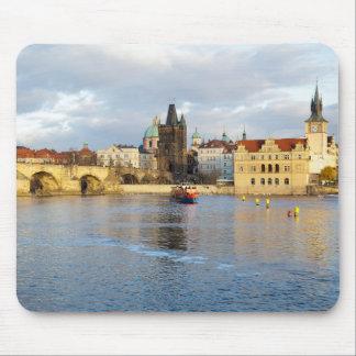 Tapis De Souris Photo de souvenir de Prague de rivière de Vlatva