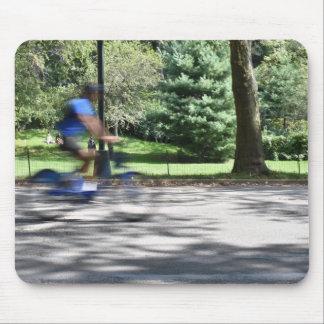 Tapis De Souris Photographie NYC de cycliste de Central Park de