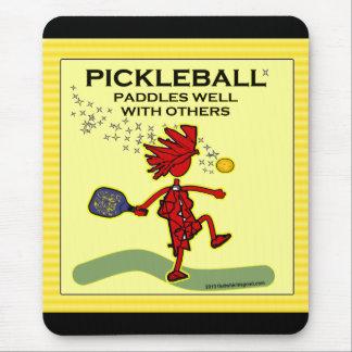 Tapis De Souris Pickleball barbote bien avec d'autres