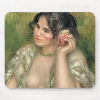 Tapis De Souris Pierre un Renoir   Gabrielle avec un rose
