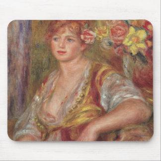 Tapis De Souris Pierre une femme blonde de Renoir | avec un rose