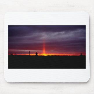 Tapis De Souris Pilier du feu au coucher du soleil, île de St