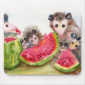 Tapis De Souris Pique-nique Mousepad d'opossum