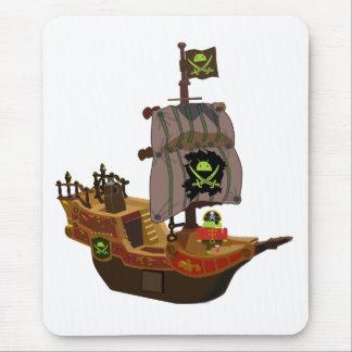 Tapis De Souris Pirate Andy sur un bateau