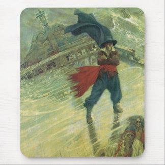 Tapis De Souris Pirate vintage, le Néerlandais de vol par Howard