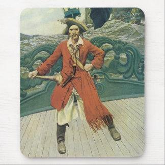 Tapis De Souris Pirates vintages, capitaine Keitt par Howard Pyle