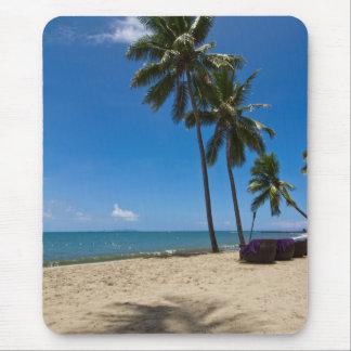 Tapis De Souris Plage d'île de Denarau, Fidji