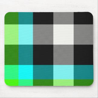 Tapis De Souris Plaid vert/bleu Mousepad