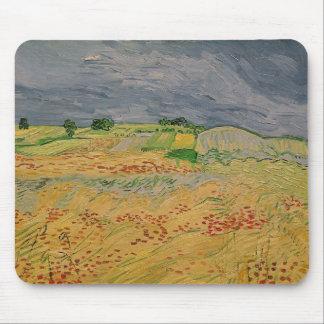 Tapis De Souris Plaine de Vincent van Gogh | chez Auvers, 1890