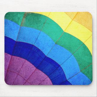 Tapis De Souris Plan rapproché chaud de ballon à air d'arc-en-ciel
