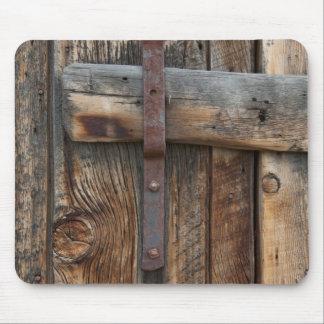 Tapis De Souris Plan rapproché en bois de porte, la Californie