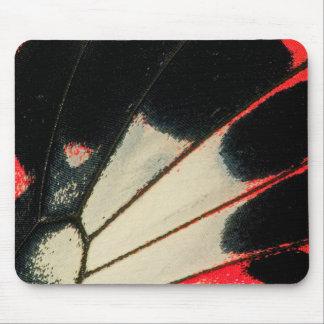 Tapis De Souris Plan rapproché rouge et noir de papillon