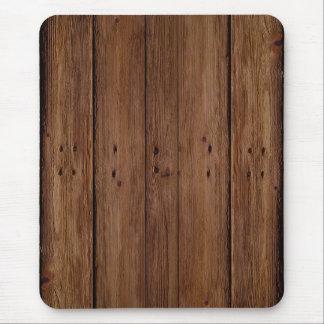 Tapis De Souris Planches en bois foncées