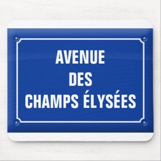 Tapis De Souris plaque avenue des Champs Elysées - FRANCE