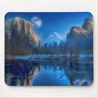 Tapis De Souris Pleine lune dans Yosemite