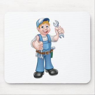 Tapis De Souris Plombier ou mécanicien avec la clé