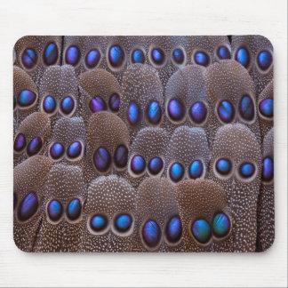 Tapis De Souris Plume de faisan repérée par bleu