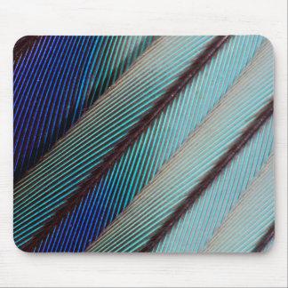 Tapis De Souris Plume lilas bleue de rouleau de Breasted