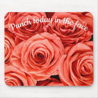 Tapis De Souris Poinçon aujourd'hui dans les roses de saumon de