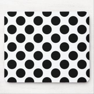 Tapis De Souris Point de polka noir et blanc Mousepad, point de