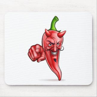 Tapis De Souris Pointage de poivre de piments rouges de diable de