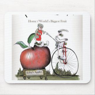 Tapis De Souris Pommes de Yorkshire d'amour grandes